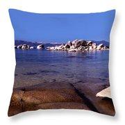 Boulders At The Coast, Lake Tahoe Throw Pillow