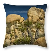 Boulders In The Joshua Tree National Park Throw Pillow