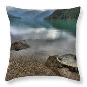 Boulders On The Edge Of Cheakamus Lake Throw Pillow