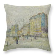 Boulevard De Clichy Throw Pillow