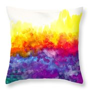 Bouncing Color Throw Pillow