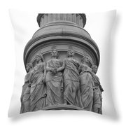 Bound By One Constitution Throw Pillow