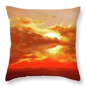 Bound Of Glory - Red Sunset  Throw Pillow