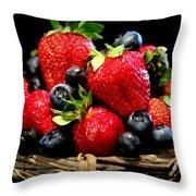 Bountiful Basket Throw Pillow