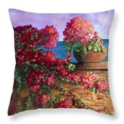 Bountiful Bougainvillea Throw Pillow