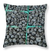 Bounty Of Blueberries Throw Pillow