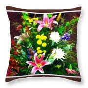 Bouquet Bounty Throw Pillow