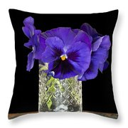 Bouquet Of Flowers Pansies Throw Pillow