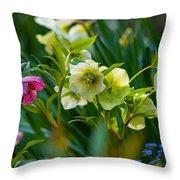 Bouquet Of Lenten Roses Throw Pillow