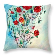 Bouquet Of Love Throw Pillow
