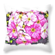Bouquet Of Pink Throw Pillow