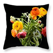 Bouquet Of Ranunculus Throw Pillow