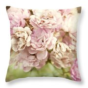 Bouquet Of Vintage Roses Throw Pillow