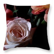 Bouquet With Rose Throw Pillow