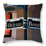 Bourbon And Orleans Throw Pillow