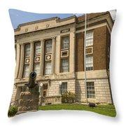 Bourbon County Courthouse 4 Throw Pillow