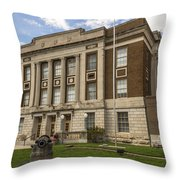 Bourbon County Courthouse 5 Throw Pillow