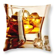 Bourbon - Large Size Painting Throw Pillow