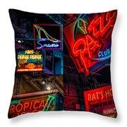 Bourbon St. Neon - Nola Throw Pillow