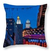 Bourbon Street And Cbd Lights  Throw Pillow