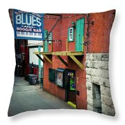 Bourbon Street Blues Throw Pillow
