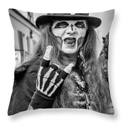 Bourbon Street Denizon Bw Throw Pillow