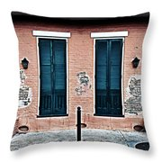 Bourbon Street Doors Throw Pillow
