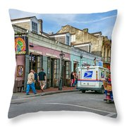 Bourbon Street - Let The Party Begin Throw Pillow