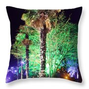 Bournemouth Winter Gardens At Night Throw Pillow