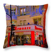 Boutique Erotique Romance Mont Royal The Love You Make Is Equal To The Love You Take City Scene Art Throw Pillow