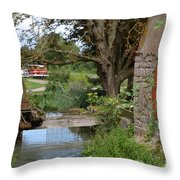 Bouy By Canal Throw Pillow