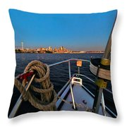 Bow And The Needle Throw Pillow