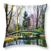 Bow Bridge - Grounds For Schulpture Throw Pillow