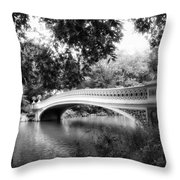 Bow Bridge In Black And White Throw Pillow