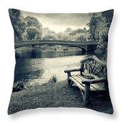 Bow Bridge Nostalgia Throw Pillow