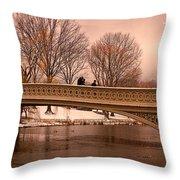 Bow Bridge Panorama Throw Pillow
