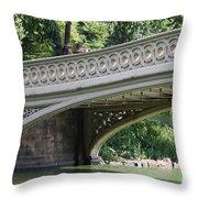 Bow Bridge Texture - Nyc Throw Pillow