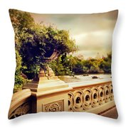 Bow Bridge View Throw Pillow