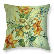 Bow Of Flowers Throw Pillow