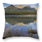 Bow Range And Herbert Lake Banff Throw Pillow