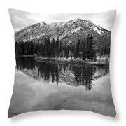Bow River Banff Alberta Throw Pillow