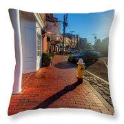 Bow Street Shops Throw Pillow