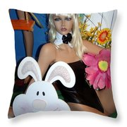 Bow Tie Blonde Throw Pillow