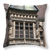 Bowfront City Hall Wroclaw Throw Pillow