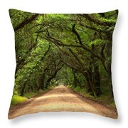 Bowing Oak Trees Throw Pillow