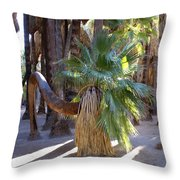 Bowing Palm Throw Pillow