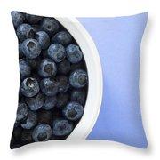 Bowl Of Blueberries Throw Pillow by Steven Raniszewski