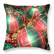 Bowl Of Christmas Colors Throw Pillow