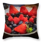 Bowl Of Fruit 1 Throw Pillow