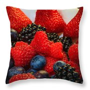 Bowl Of Fruit 2 Throw Pillow